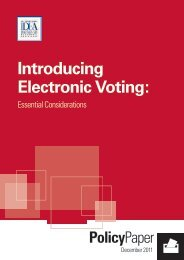 Introducing Electronic Voting:
