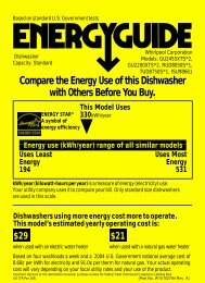 Compare the Energy Use of this Dishwasher with Others ... - Estate