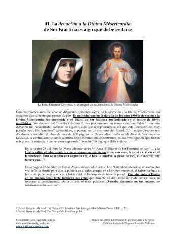 La Devoción de la Divina Misericordia de la Sor Faustina es algo ...