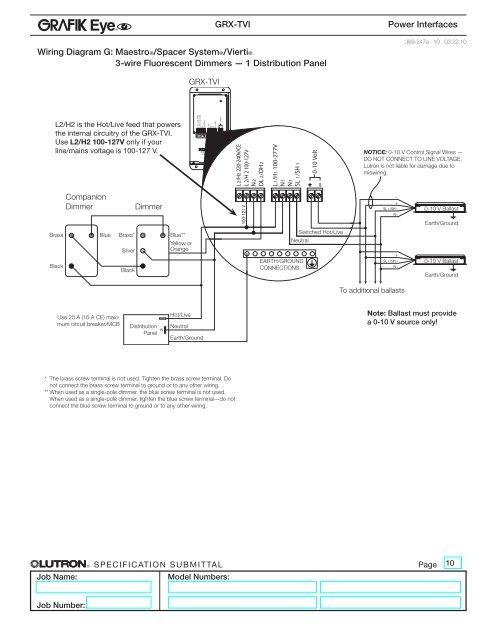 Wiring Diagram G: Maestro on