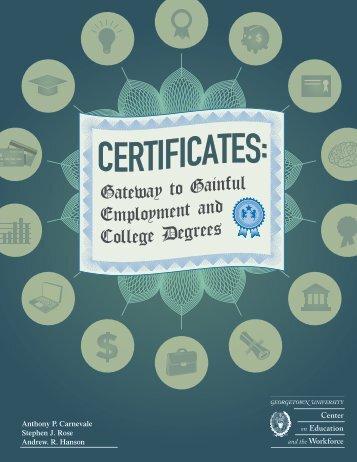 Certificates - NCCER