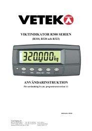 Instruktion R300 serien Rev 01.2008.pdf - Vetek