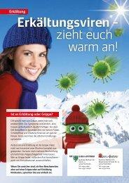 Erkältungsviren – zieht euch warm an!