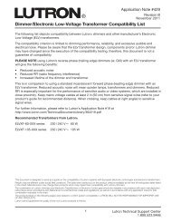 Dimmer/Electronic Low-Voltage Transformer Compatibility List - Lutron