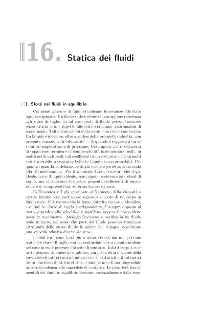 16. Statica dei fluidi - LaFSI