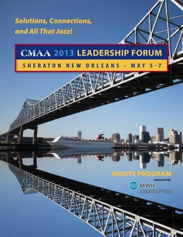 2013 LEADERSHIP FORUM - CMAA