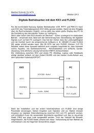 Digitale Betriebsarten mit dem KX3 und FLDIGI