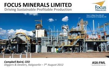 Download Presentation here - Focus Minerals Pty Ltd