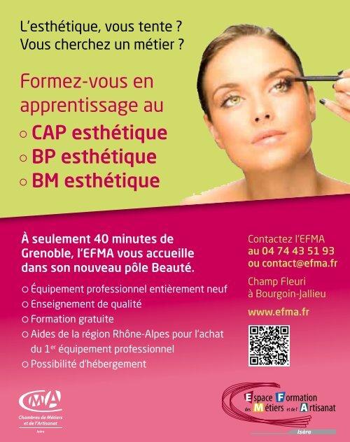Formez-vous en apprentissage au CAP esthétique BP esthétique ...