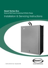 Installation & Servicing Instructions - Grant UK