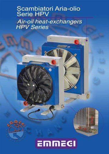 Scambiatori Aria -Olio Serie HPV - Emmegi Heat Exchangers