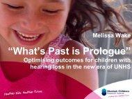 Melissa Wake - Murdoch Childrens Research Institute