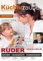 Raum für alle Sinne - RUDER Küchen-Hausgeräte-Kundendienst