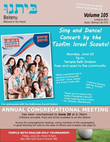 PDF: June/July 2012 Newsletter - Temple Beth Shalom