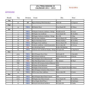 """uil/tmea region 23 calendar 2011 - UIL """"ONLINE ENTRY"""""""