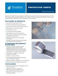 PROTECTIVE VENTS - Donaldson Company, Inc.