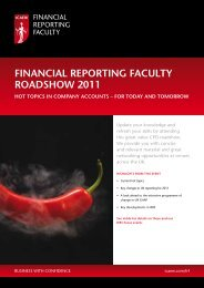 FINANCIAL REPORTING FACULTY ROADSHOW 2011 - ICAEW