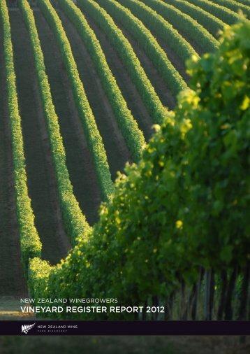 Vineyard Register Report 2012 (882.8 KB) - New Zealand Wine