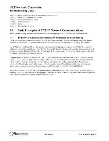 nxt network connection troubleshooting guide keri systems?quality=85 nxt controller manual ip assignment in wan keri systems 4D Diagram Architecture at n-0.co