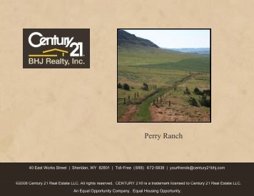 Perry Ranch - CENTURY 21 BHJ Realty, Inc