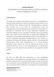 Deindustrialization - Lehrstuhl für Neuere und Neueste Geschichte