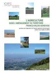 Synthèse du diagnostic de l'espace agricole transfrontalier - CRFG