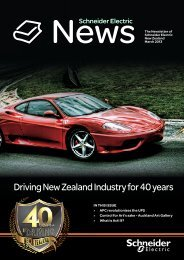Driving New Zealand Industry for 40 years - Schneider Electric