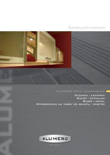 Technika profili meblowych - Alumero