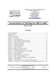 Second Draft Act 150 Plan for 2007 to 2009 - Waukesha County ...