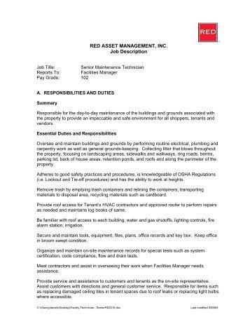 Company Manager Job Description