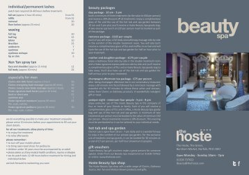 beauty packages hot tub and spa garden gift vouchers ... - The Hoste