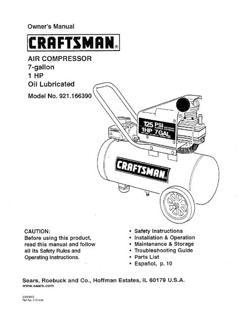 Craftsman Compressor Wiring Diagram