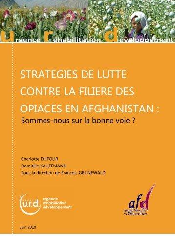 Stratégies de lutte contre la filière des opiacés en ... - Groupe URD