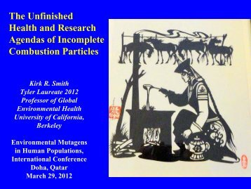 The Unfinished Health and Research Agendas of Incomplete ...
