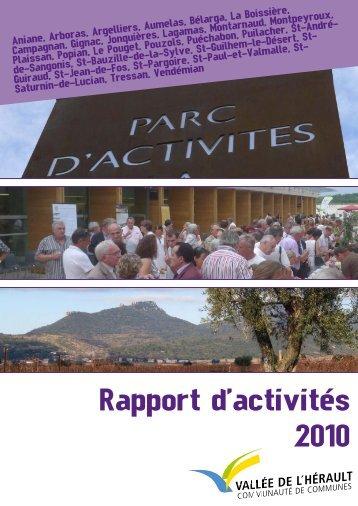Rapport d'activités 2010 - Communauté de Communes Vallée de l ...