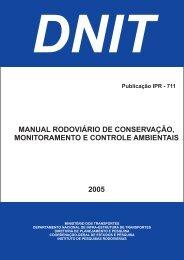Manual Rodoviário de Conservação, Monitoramento e ... - IPR - Dnit