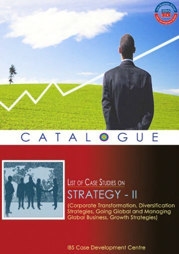 Case Studies on Strategy - Case Catalogue II