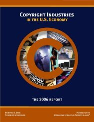 Copyright Industries in the US Economy: The 2006 Report - IIPA