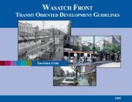 Wasatch Front Transit Oriented Development ... - Envision Utah