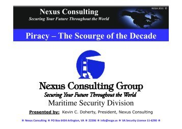 Piracy – The Scourge of the Decade - Marine Money