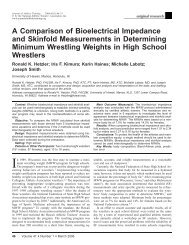 A Comparison of Bioelectrical Impedance and ... - (DOE) Athletic