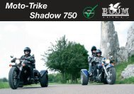 Moto-Trike Shadow 750 PPKW - Boom Trikes Nederland