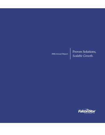 2006 FalconStor Annual Report