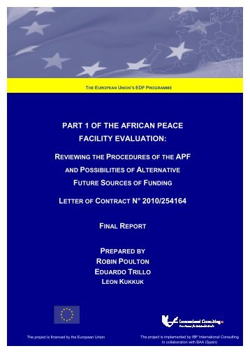 part 1 of the african peace facility evaluation - European ...