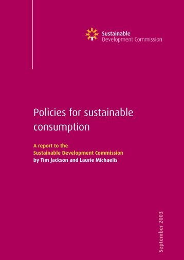 Policies_sust_consumption.pdf - Sustainable Development ...