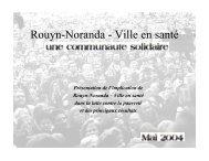 Bilan de la lutte contre la pauvreté (PDF) - Ville de Rouyn-Noranda