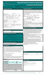 Special Preferred Customer Agreement & payment ... - Melaleuca
