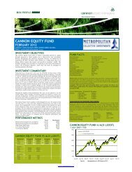Cannon Equity Fund Factsheet - Cannon Asset Managers