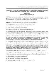 Reglamento Para el Funcionamiento de Establecimientos que ...
