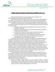 Kodeks dobrych praktyk i etyki biznesu w NEPCon Sp. z o.o.